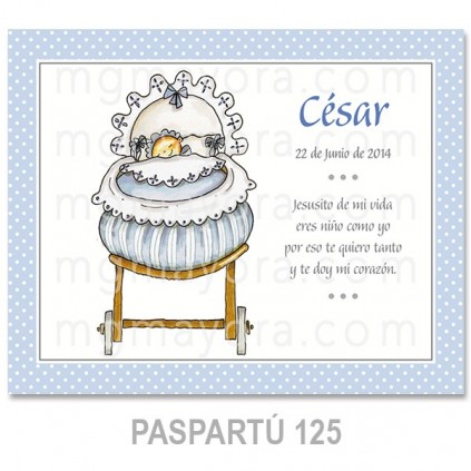 Cuadro infantil blanco 24x18 cm