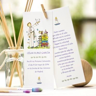 Punto de libro con oración NIÑO