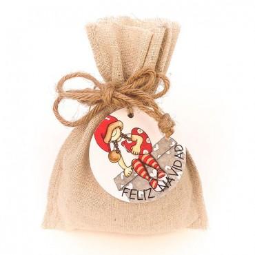 Bolsa Navidad 11x14 con etiqueta