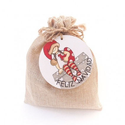 Bolsa Navidad 14x19 con etiqueta