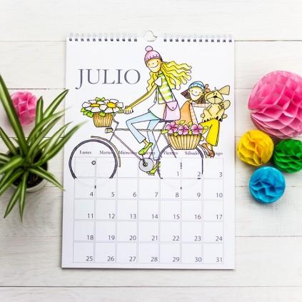 Calendario de pared chico y chica