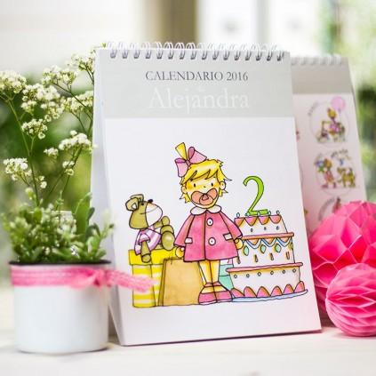 Calendario mesa niña y niño