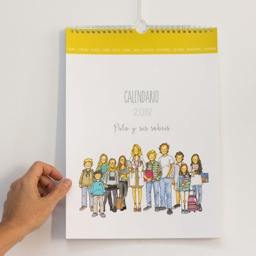 Calendario de pared CON PERSONAJES