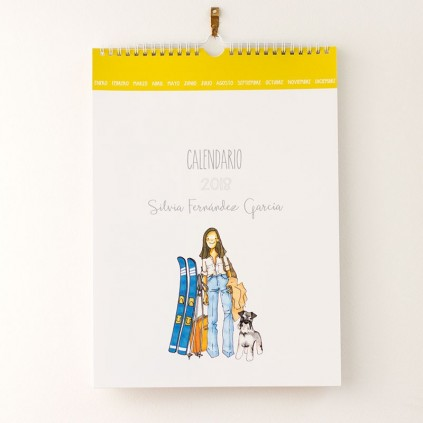 Calendario de pared CON PERSONAJES