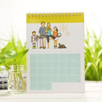 Calendario de mesa CON PERSONAJES