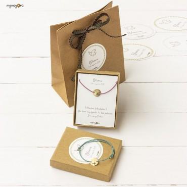Pulsera de Comunión medalla chapada en oro