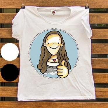 Camiseta NIÑA-MUJER con cara