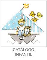 dibujo infantil niño en barco