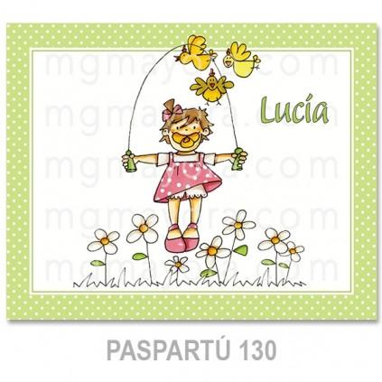Cuadro infantil blanco 40x30 cm