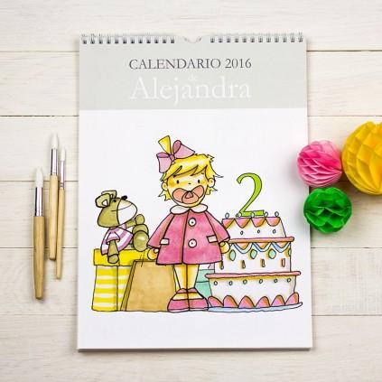Calendario de pared  niña y niño