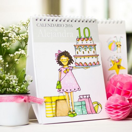 Calendario mesa chico y chica