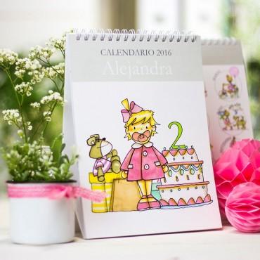 Calendario de mesa niña y niño