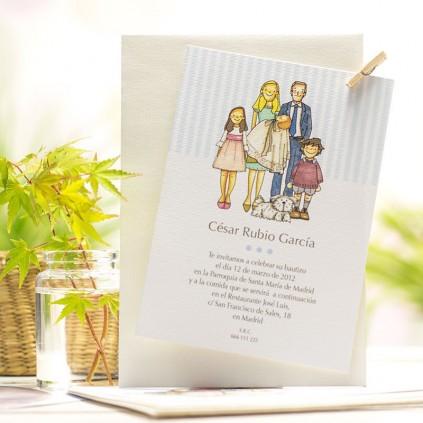 Invitación Bautizo FAMILIA