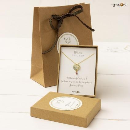 Medalla de Comunión chapada en oro
