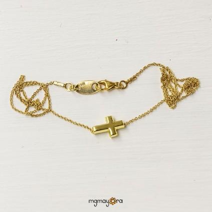 Cruz de Comunión chapada en oro