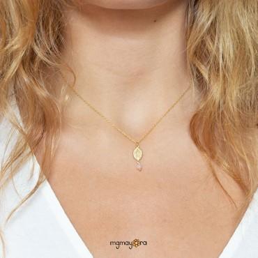 Medalla Virgen de Comunión chapada en oro