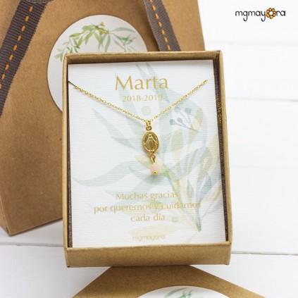 Medalla Virgen chapada en oro