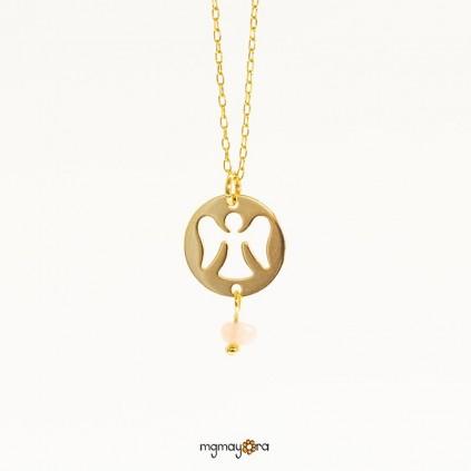 Medalla ángel chapada en oro