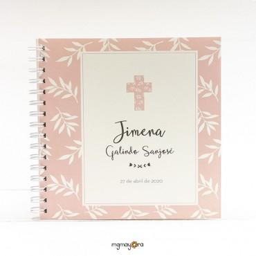 Libro de firmas Comunión con cruz