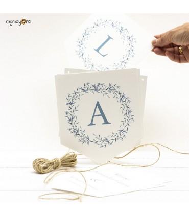 Banderines Comunión con inicial