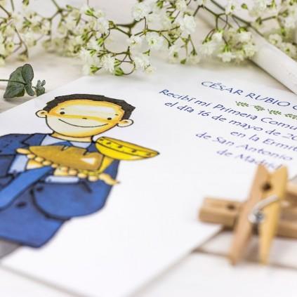 Recordatorio Comunión con oración NIÑO